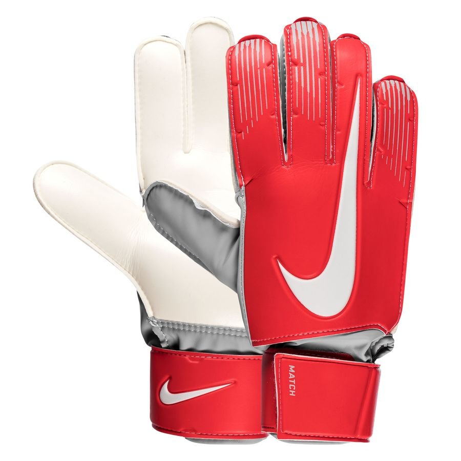 Nike Gants de Gardien Match Raised On Concrete - Rouge/Gris