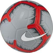 nike voetbal strike - grijs/rood/wit pre-order - voetballen