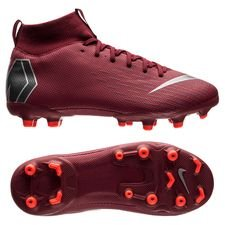 Nike Mercurial Superfly 6 Academy MG Rising Fire - Bordeaux/Grå/Röd Barn