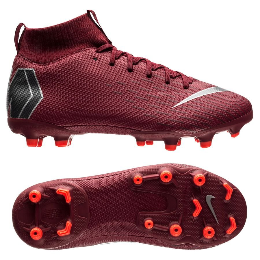 Nike Mercurial Superfly 6 Academy MG Rising Fire - Bordeaux/Gris/Rouge Enfant