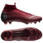 Nike Mercurial Superfly 6 Elite FG Rising Fire - Bordeaux/Grå/Rød