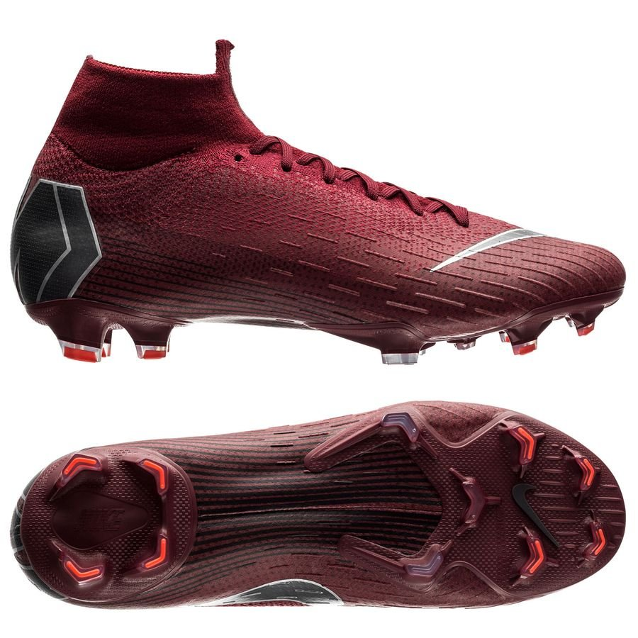 Nike Mercurial Superfly 6 Elite FG Rising Fire - Bordeaux/Gris/Rouge