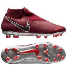 Nike Phantom Vision Academy DF MG Rising Fire - Bordeaux/Grijs/Rood