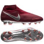 Nike Phantom Vision Elite DF FG Rising Fire - Bordeaux/Grå/Rød