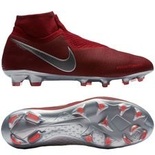 Nike Phantom Vision Elite DF FG Rising Fire - Bordeaux/Grau/Rot