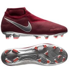 Nike Phantom Vision Elite DF FG Rising Fire - Bordeaux/Grijs/Rood