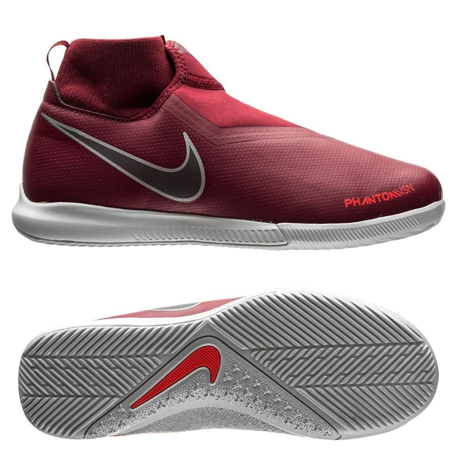 Nike Phantom Vision Academy DF IC Rising Fire BordeauxGrisRouge Enfant