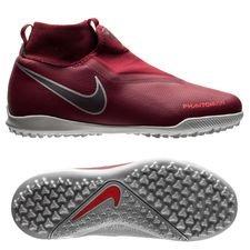 Nike Phantom Vision Academy DF TF Rising Fire - Bordeaux/Grijs/Rood Kinderen