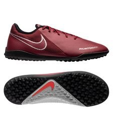 Nike Phantom Vision Academy TF Rising Fire - Bordeaux/Grijs/Zilver