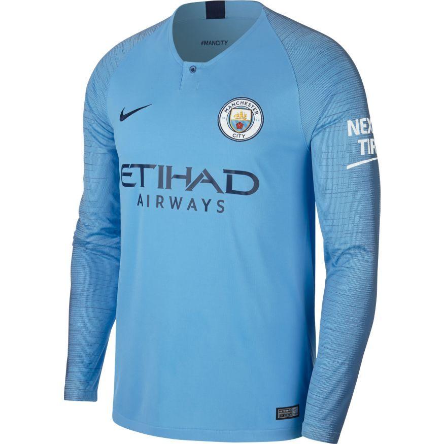 Manchester City Hjemmebanetrøje 2018/19 Langærmet