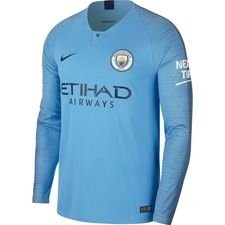 manchester city hjemmebanetrøje 2018/19 l/æ - fodboldtrøjer