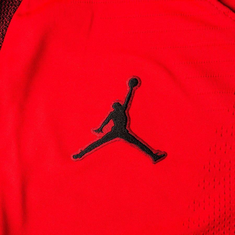 d3c7815ac29c Paris Saint Germain Training T-Shirt Strike VaporKnit CHL Jordan x PSG -  Red Black