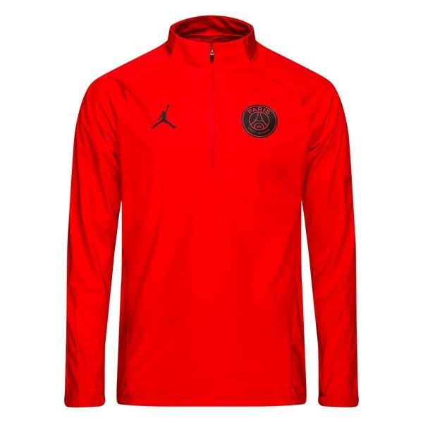 buy online 10f99 8608e Paris Saint Germain Training Shirt Squad Drill CHL Jordan x PSG - Red/Black