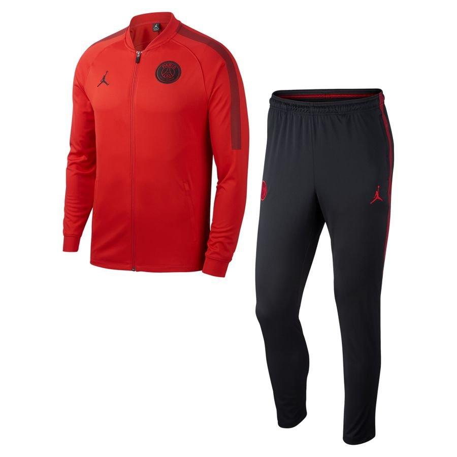 Paris Saint-Germain Survêtement Dry Squad Knit CHL Jordan x PSG - Rouge/Noir