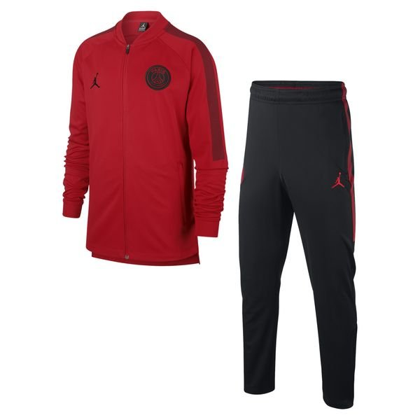 3f1950f2dea4d1 99.95 EUR. Price is incl. 19% VAT. -50%. Paris Saint Germain Tracksuit Dry  Squad Knit CHL Jordan x PSG - Red Black Kids