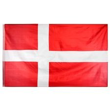 danmark flag dannebrog 90x155cm - rød/hvid - tilbehør
