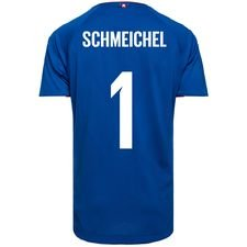 denmark goalkeeper shirt world cup 2018 true blue pro player edition schmeichel 1 - football shirts