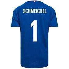 danmark målmandstrøje vm 2018 blå schmeichel 1 børn - fodboldtrøjer