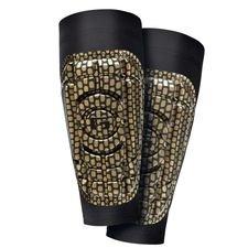 G-Form Shin Pads Pro-S - Gold Metallic/Black