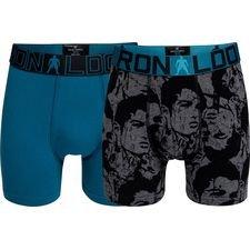 cr7 underwear underbukser 2-pack - blå/sort/grå børn - undertøj