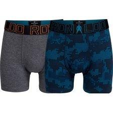 cr7 underwear underbukser 2-pack - grå/navy børn - undertøj