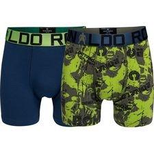 cr7 underwear kalsonger 2-pack - navy/grön barn - underkläder