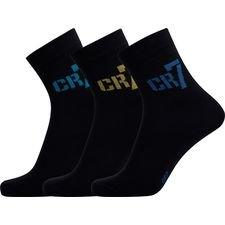 CR7 Underwear Kousen 3-Pak - Zwart Kinderen