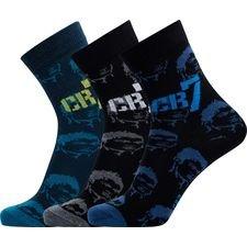 cr7 underwear sokker 3-pak - blå/sort børn - sokker