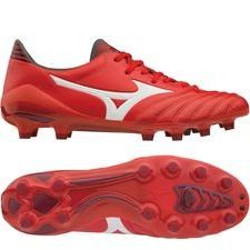 Mizuno Morelia Neo II MD FG Red Passion Pack - Rood/Wit