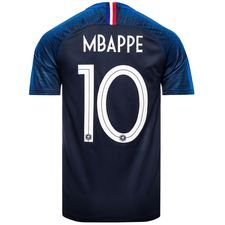 france maillot domicile coupe du monde 2018 vapor mbappé 10 livraison express - maillots de football