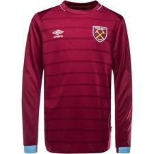 west ham united home shirt 2018/19 l/s kids - football shirts