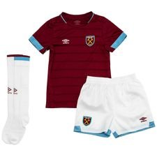 west ham united home shirt 2018/19 mini-kit kids - football shirts