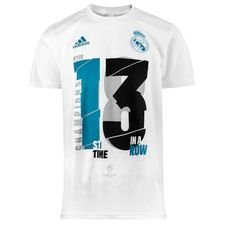 real madrid t-shirt champions league winnaar 2017/18 - wit kinderen - voetbalshirts