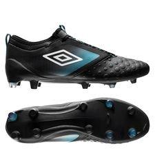 umbro ux accuro ii pro fg - sort/hvid/blå - fodboldstøvler