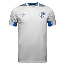 schalke 04 trainingsshirt - wit/blauw - trainingsshirts