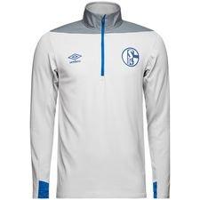 Schalke 04 Träningströja 1/4 Blixtlås - Vit/Blå