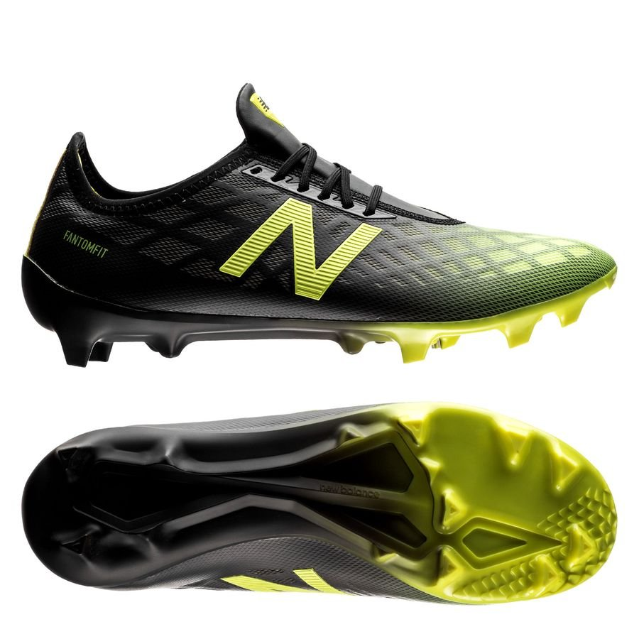 New Balance Furon 4.0 Pro FG Horizon - Sort/Gul
