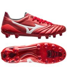 Mizuno Morelia Neo II Made in Japan FG Red Passion Pack - Röd/Vit