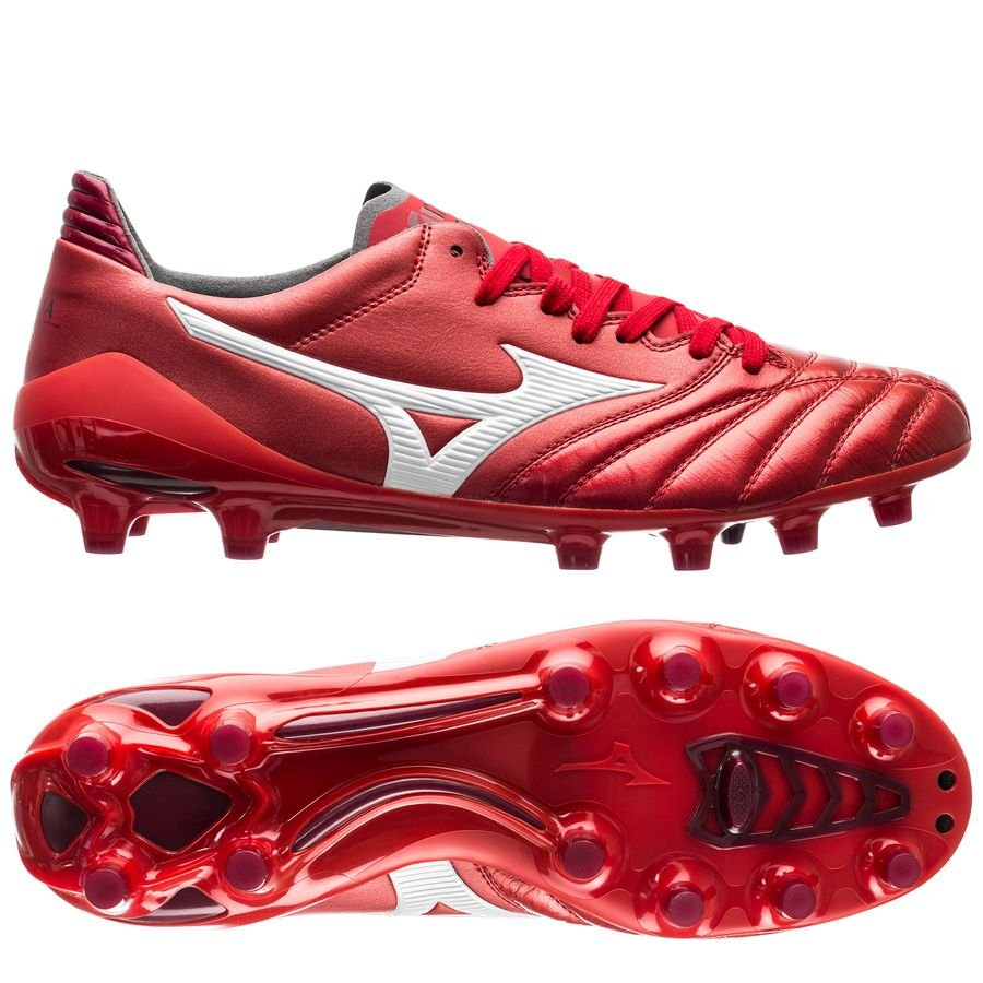 aa1078fb24 Mizuno Morelia Neo II Made in Japan FG Red Passion Pack - Red White ...