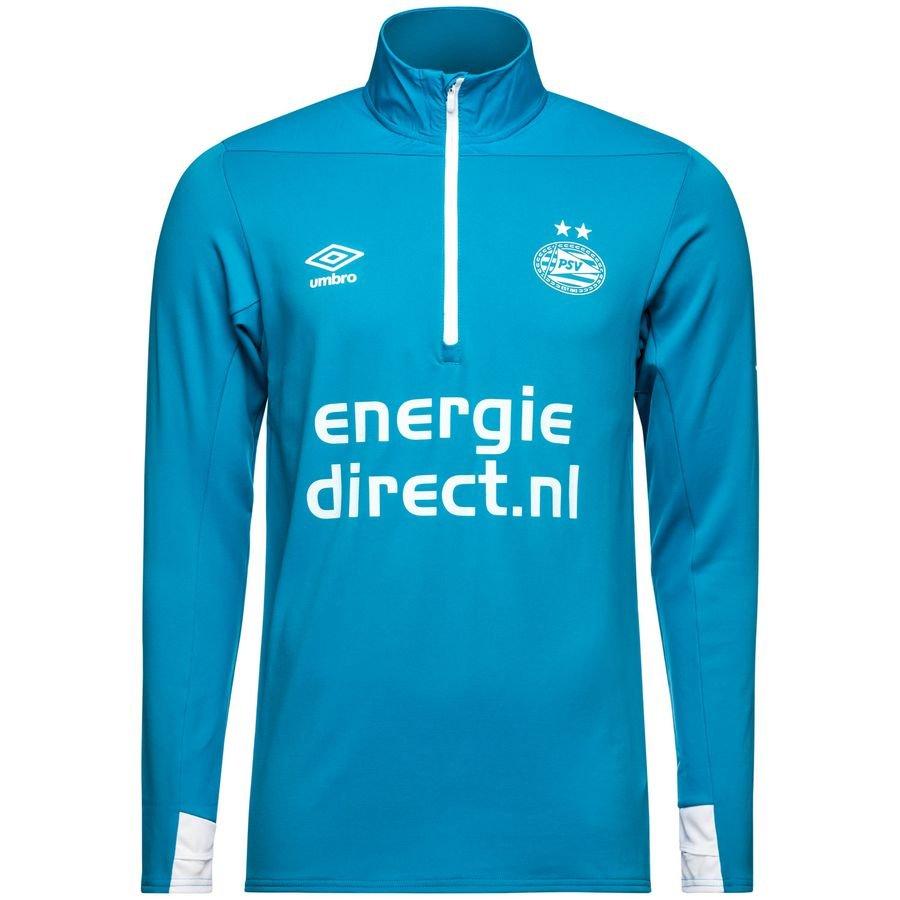 011553f0c psv eindhoven training shirt 1/4 zip - blue/white - training tops ...