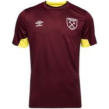 West Ham Tränings T-Shirt - Bordeaux/Gul