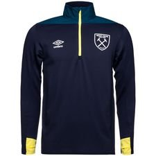 West Ham Trainingsshirt Kwartrits - Blauw/Geel