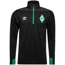 Werder Bremen Träningströja 1/4 Blixtlås - Svart/Grön