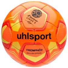 uhlsport football ligue 2 2018/19 official triomphéo winter - orange - footballs