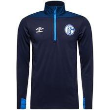 Schalke 04 Träningströja 1/4 Blixtlås - Blå