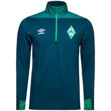 Werder Bremen Träningströja 1/4 Blixtlås - Blå/Grön