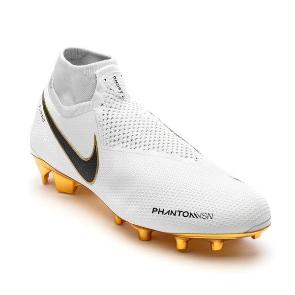 6219a8f8f Nike Phantom Vision Gold Elite △ DF FG - White/Black LIMITED EDITION 3