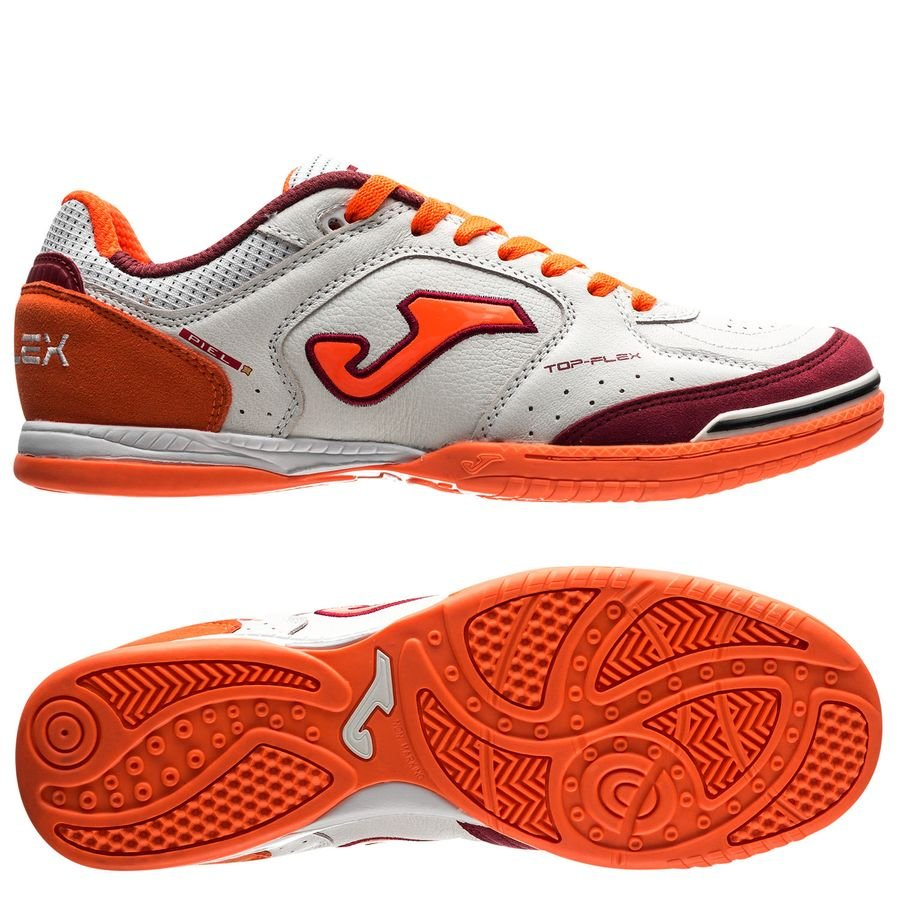 d99bcd3cdd joma top flex in - white orange - indoor shoes ...