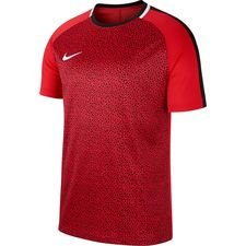 nike t-shirt dry academy - rood/zwart - t-shirts