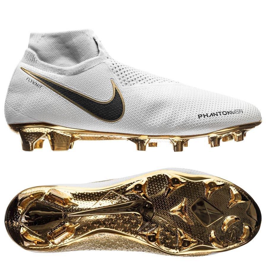ff66e27d892ff1 nike phantom vision gold elite △ df fg - white black limited edition -  football ...